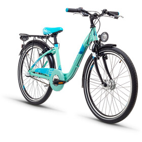 s'cool chiX 24 3-S Juniorcykel Barn Steel turkos